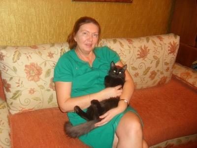 My cat Marsik., January.