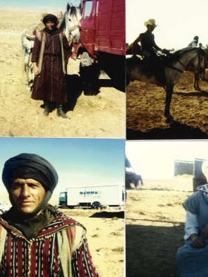 at work in Morocco/stunt man