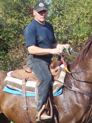 trail ride in forest