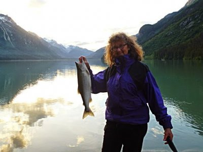 My first Salmon at Chilkoot Lake, Haines Alaska