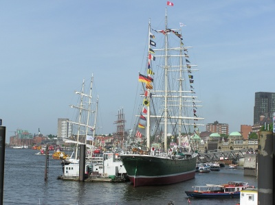 The tallship Rickmar Rickmers in my hometown