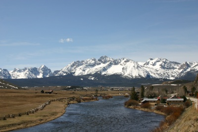 The Sawtooth Mountains from the ranch.