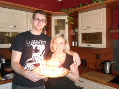 me and my son's 20th birthday