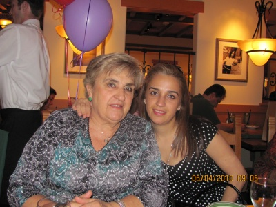My mom and I on my mom's b-day May