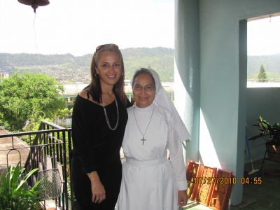 My principal  from elementary school after 26 years in Tegucigalpa, Hoduras on July .
