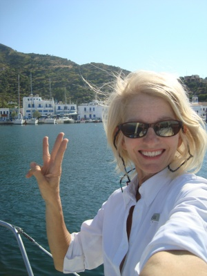 Sailing into Nisiros, Greece Summer  (third Greek Island and many more to go)