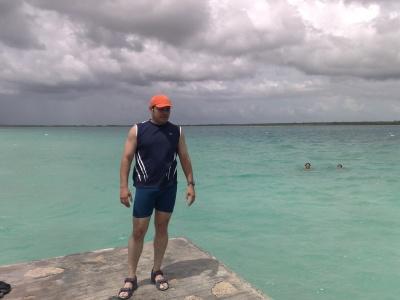 disfrutando del aire caribeño
