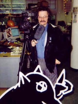Newsreporter for the programm 'Man Bijt Hond'.