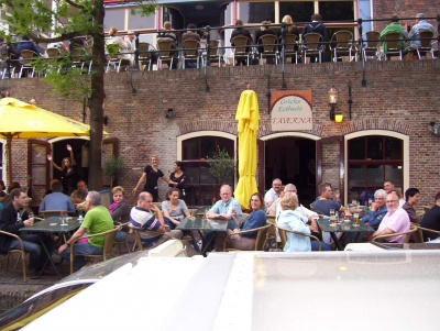 One of my favorite (greek) restaurant at the warf besides the canal in Utrecht