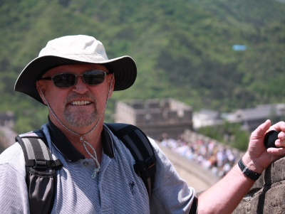 A windy day on the Great Wall in China.