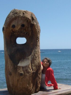 Wood face, El Medano, Tenerife
