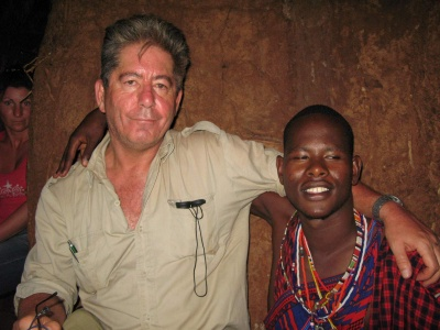 The Masai chief village and me