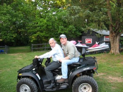 Canam ATV riding around with my cousin Rick at his house.
