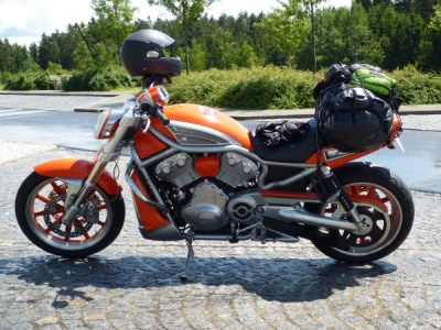 My Harley Davidson Street Rod somewhere in the Czech Republic